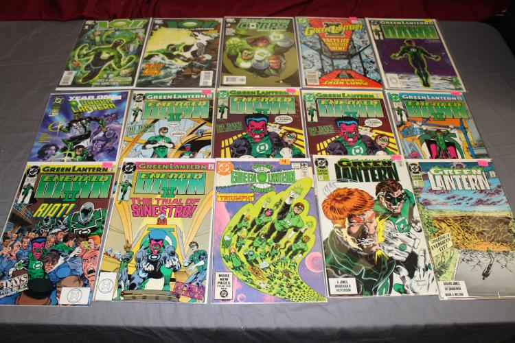 near mint lot of 15 Green Lantern Comics, Ion Guardian Universe, some #1's