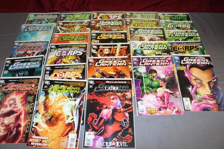 25 Green Lantern comics, near mint, Green Lantern Corps. & more