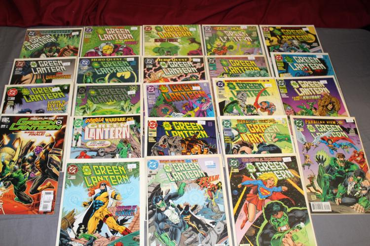 lot of 23 Green Lantern mint comics, 1990 series, nice run