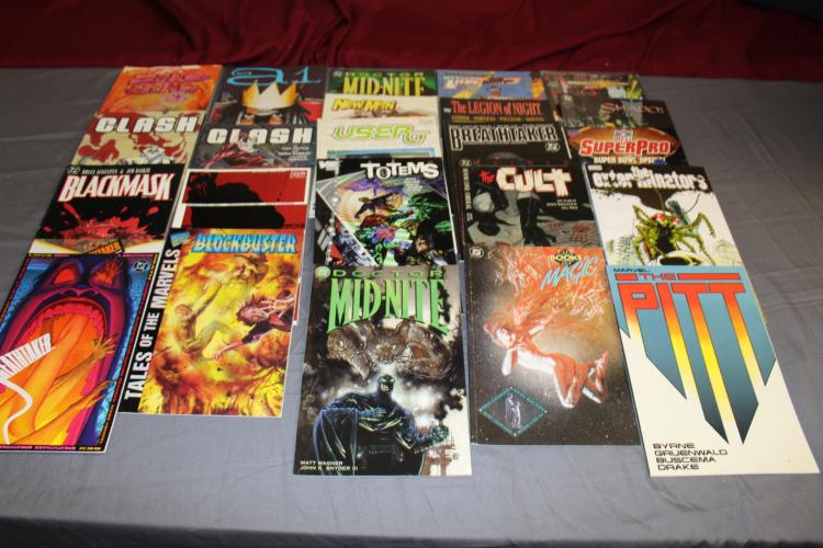 Big lot of 24 misc. near mint TPB's Horror, Drug, Super Hero Mystery