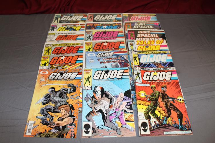Lot of 18 GI Joe comics various issues, very good to near mint