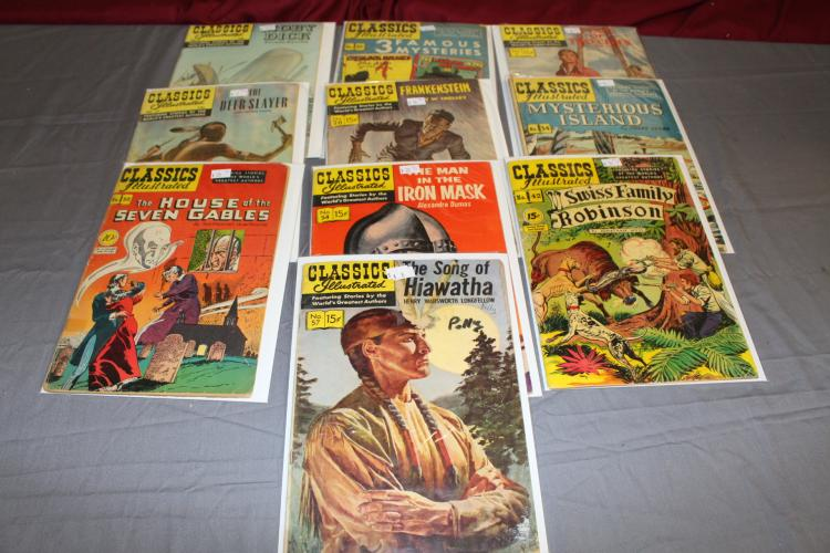 Classics Illustrated nice lot of 10 comics