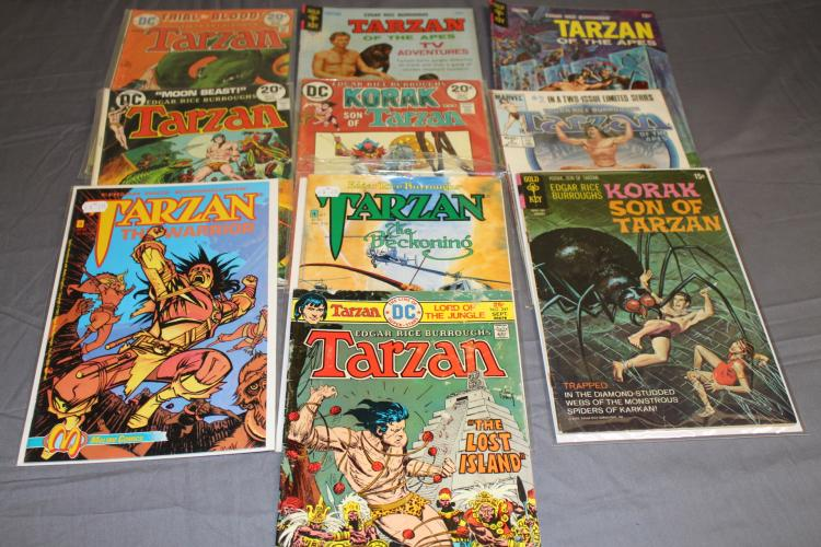 lot of 10 Tarzan comics, 1960's & up