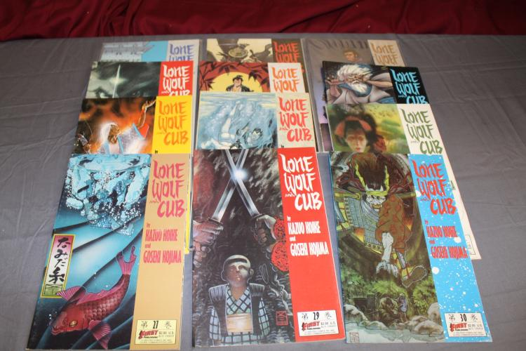 12 comic Novels, Lone Wolf Club, near mint