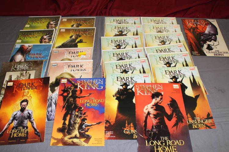Stephen King, mint collection of 24 comics, includes 12 #1, 9.8 copies