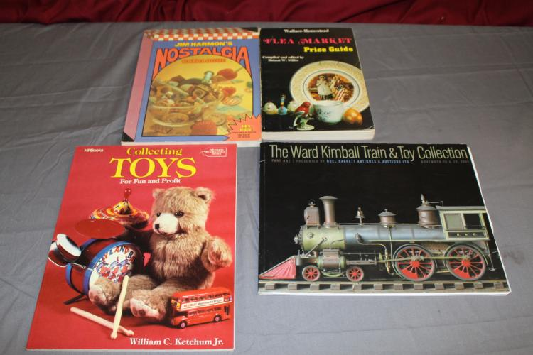 4 Books, Train & Toy Guides includes Ward Kimball Auction Catalogue