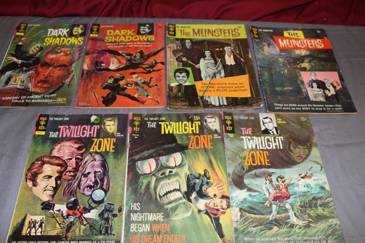 lot of 7 Gold Key comics, Dark Shadows, Munster's, Twilight Zone