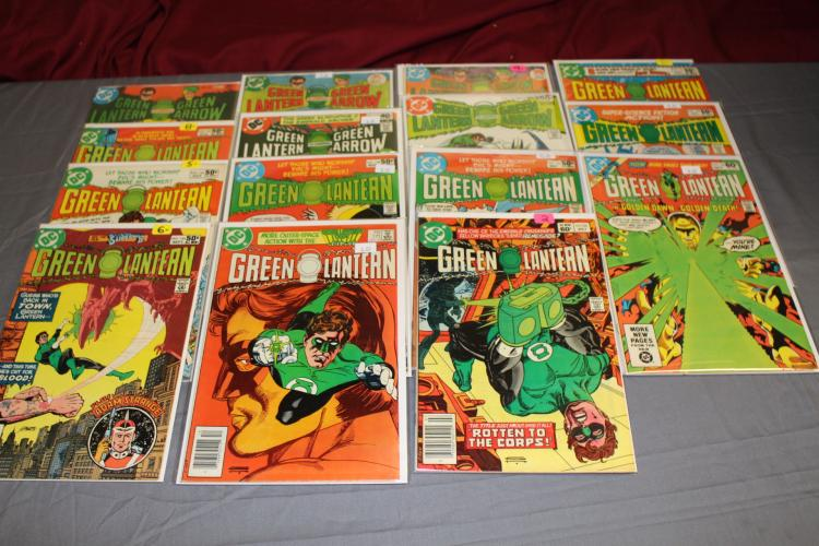 lot of 15 Green Arrow-Green Lantern Comics, 1970's & up, near fine to near mint