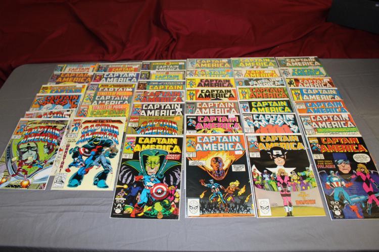 Lot of 37 awesome Captain America comics, HI grade