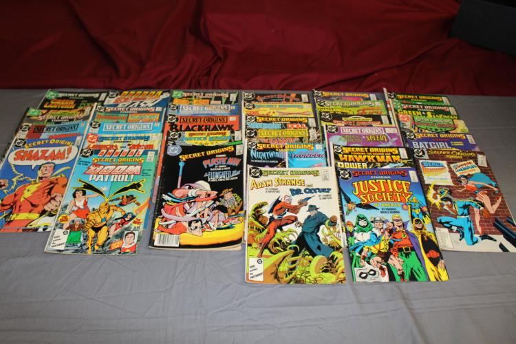 lot of 31 Secret Origins comics, no duplicates, Firestorm, Catgirl, Doom Patrol, Tons of Characters