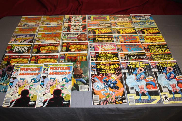 38 comic lot of What If comics, #1,2,3,& up some multiple copies, near mint