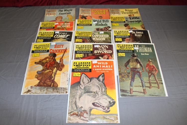Nice lot of 13 Classic comics includes 3 Jr Classics