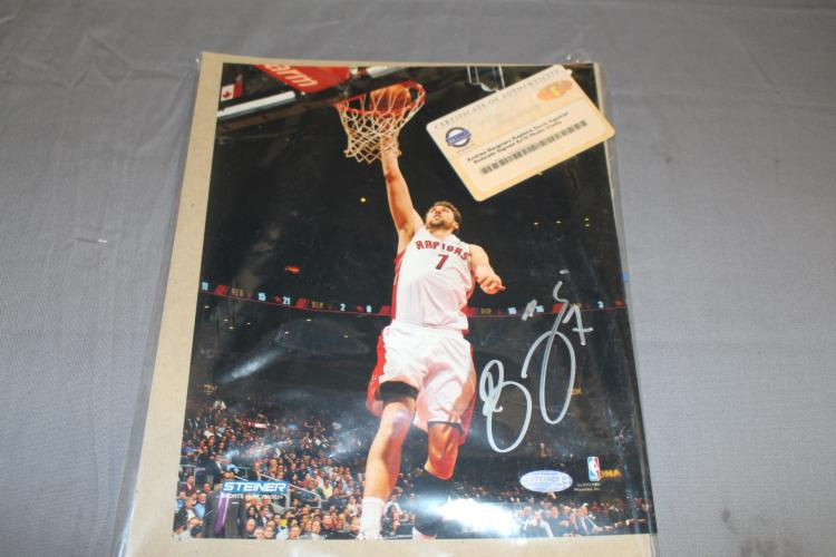 Signed Andre Bargnami Dunk photo, Raptors