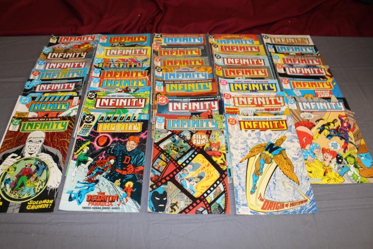 lot of 30 comics Infinity Inc. #1 and higher, no duplicates, DC comics
