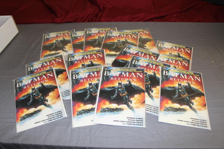 lot of 15 mint comics, Batman Returns, 9.8