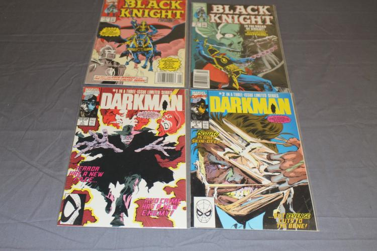 lot of 4 Marvel comics, Black Knight #1 & 2 and Darkman #1 & 2 Marvel
