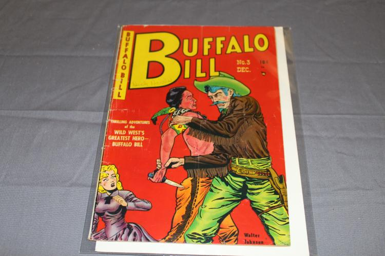 Buffalo Bill #3 nice western golden age issue