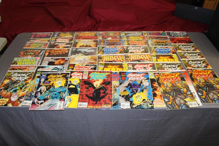 great lot of 50 Marvel Ghost Rider comics