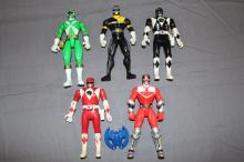 Lot of 5 Power Rangers by Bandai