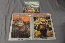 Star Wars New Old Stock 2 puzzles and read along record book