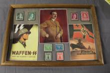 Hitler Propaganda Piece with Stamps