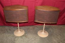 Vintage 901 Bose Stereo Speakers on Tulip Stands