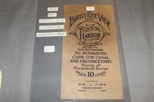 Boston & Cape Cod Boston Harbor Map 1915