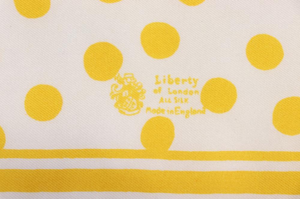 aae7fb53dd Lot 5 Vintage Silk Scarves, Yellow Dots, Richard Allen Art Deco Style