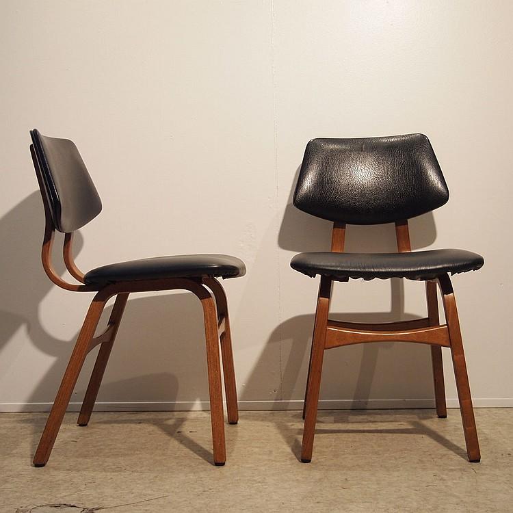 Suite de 4 chaises design vers 1960 - Chaises design belgique ...