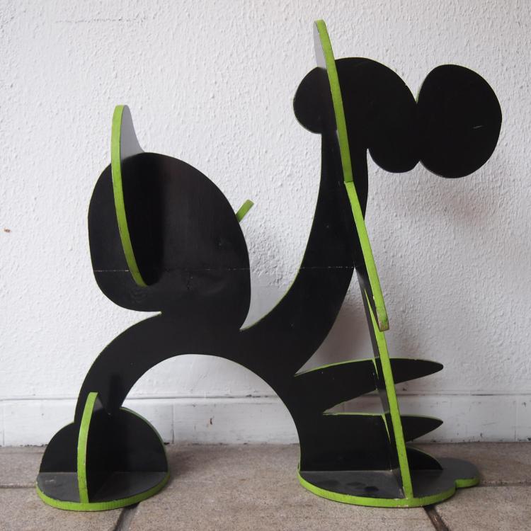 Bailleux César (1937)  Sculpture bois de contreplaqué découpé  ~ Decoupe De Bois