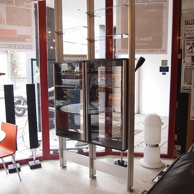 Roche bobois biblioth que double faces fixation sol plafon - Roche bobois etagere ...