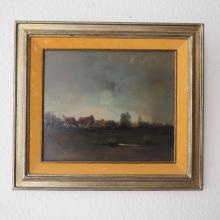 De Bruyne Joris (1896-1965) : Huile sur panneau, vue de campagne