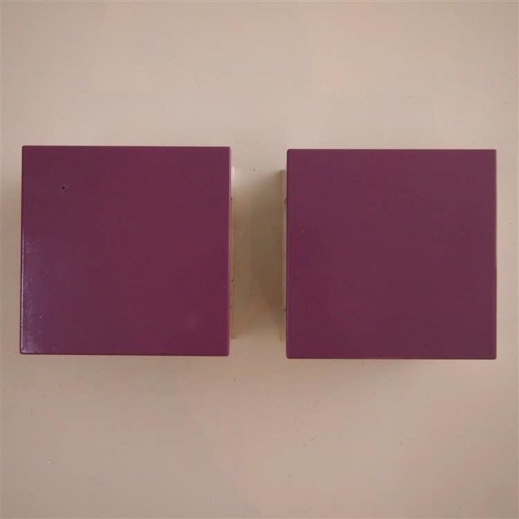 guzzini sirrahi paire d 39 appliques vers 1980 tole d 39 acie. Black Bedroom Furniture Sets. Home Design Ideas