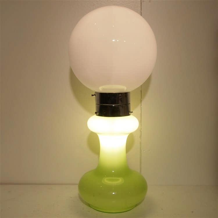 mazzega dans le gout lampe de table vers 1960 verre souff. Black Bedroom Furniture Sets. Home Design Ideas