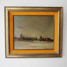 De Bruyne Joris 1896 / 1965 : Huile sur panneau, v…