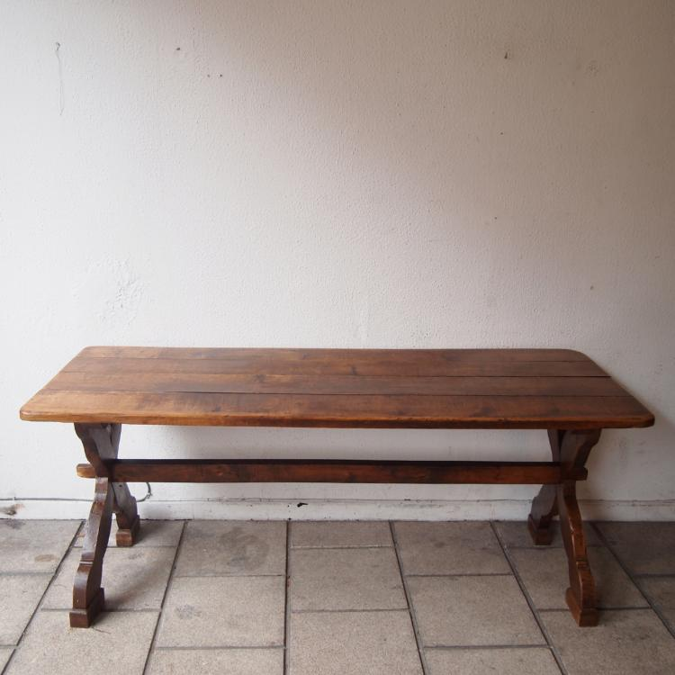 Table de ferme vers 1950 - Table ferme chene ...