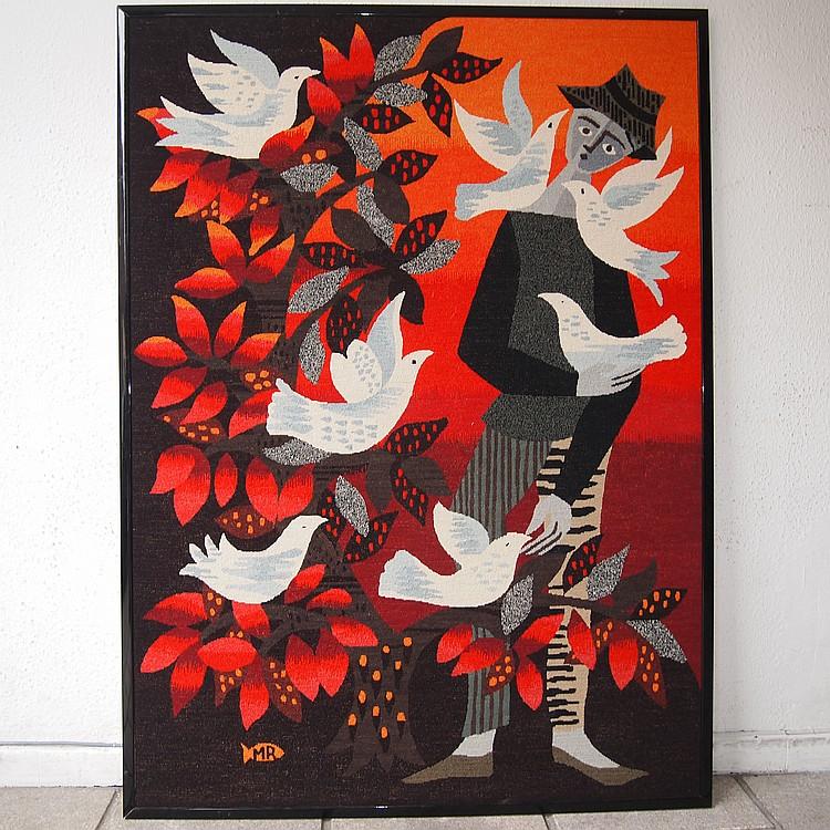 Tapisserie murale vers 1970 for Tapisserie deco murale