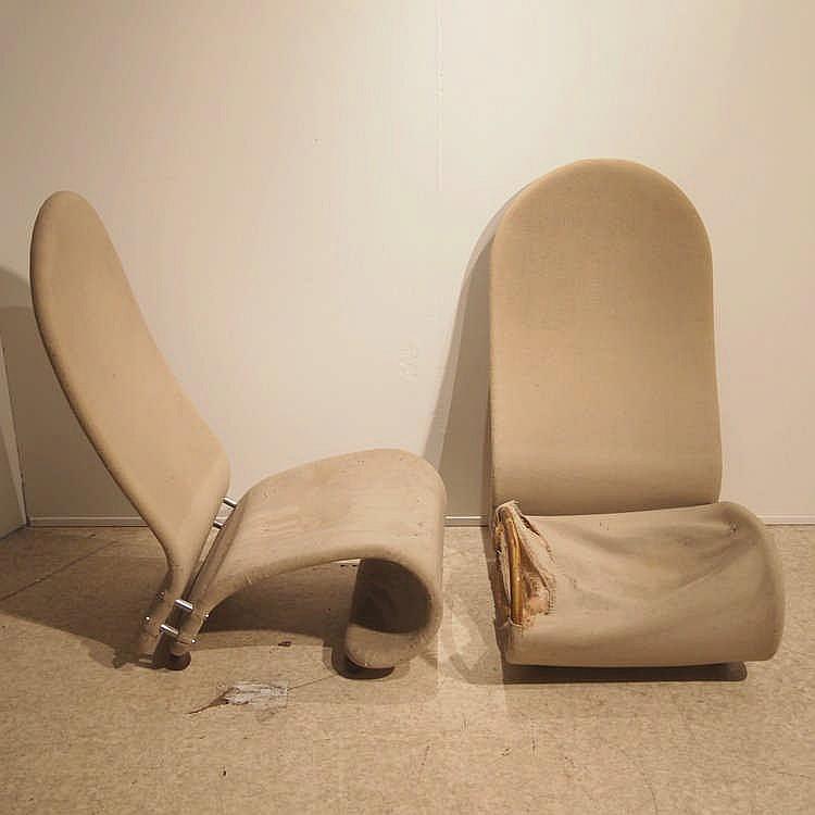 verner panton fritz hansen chaise longue mod le 1 2 3. Black Bedroom Furniture Sets. Home Design Ideas