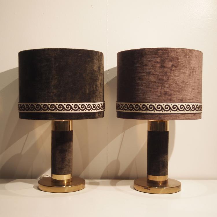 paire de lampes de chevet design vers 1970. Black Bedroom Furniture Sets. Home Design Ideas