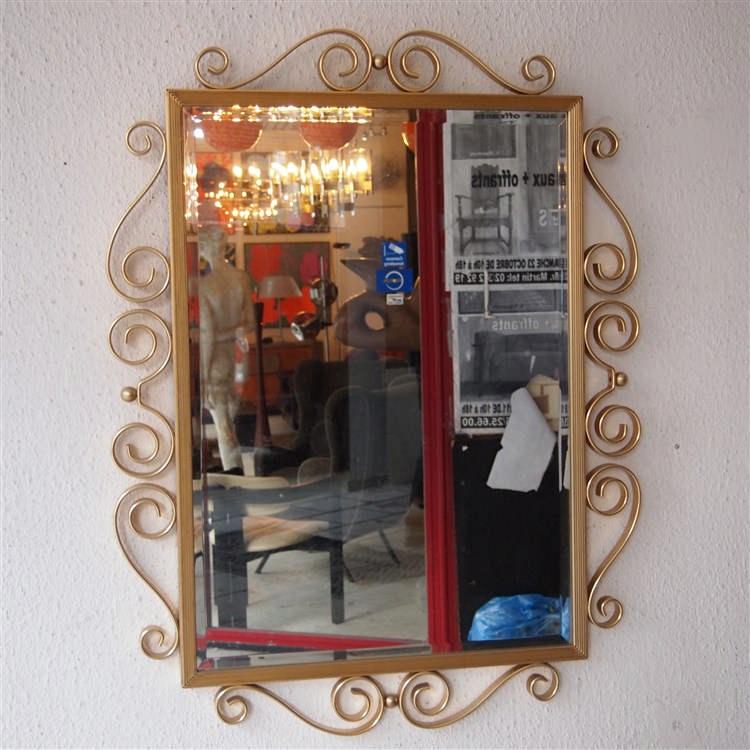 Miroir vers 1900 verre biseaut et mercuris encadrement for Miroir et verre concept