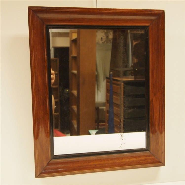 miroir louis philippe verre mercuris encadrement acajou