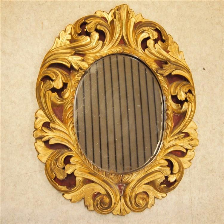 Miroir ovale 19es style rococo bois sculpt dor et ajour for Miroir bluetooth 120