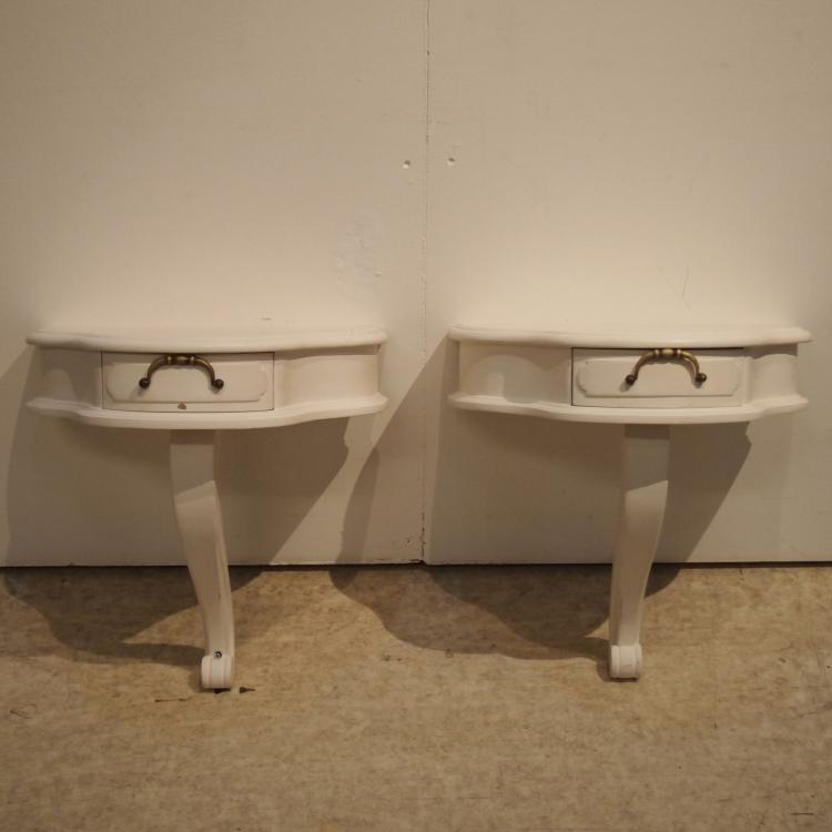 paire de tables de chevet style louis xiv vers 1960. Black Bedroom Furniture Sets. Home Design Ideas