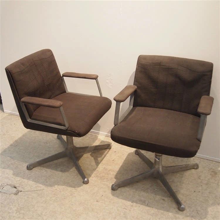 tecno 2 fauteuils visiteurs structure en m tal pied cent. Black Bedroom Furniture Sets. Home Design Ideas