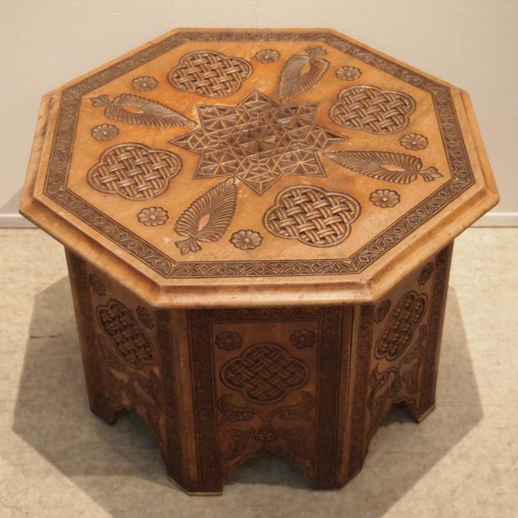 Table de salon marocaine vers 1960 Bois sculpté, -> Table Salon Marocain