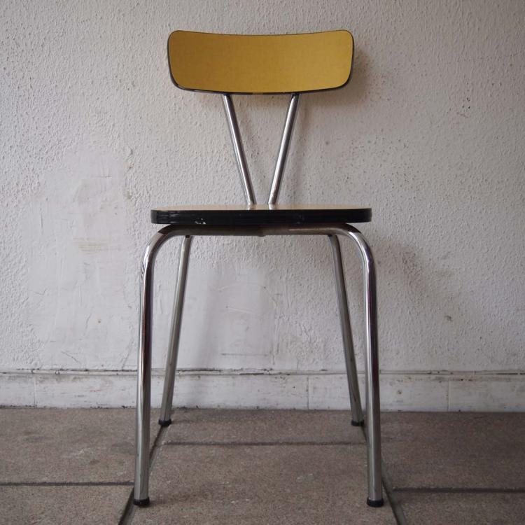 suite de 4 chaises de cuisine vers 1950. Black Bedroom Furniture Sets. Home Design Ideas