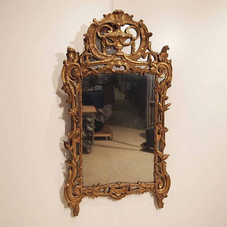 miroir de chemin e poque louis xvi encadrement. Black Bedroom Furniture Sets. Home Design Ideas