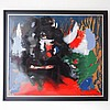 Miodrag Djordjevic (1936) : Huile sur papier,    abstraction lyrique,, Dordevic Miodrag, Click for value