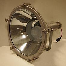 Fabrication belge : Spot industriel, aluminium, L: 55, diam: 43 cm