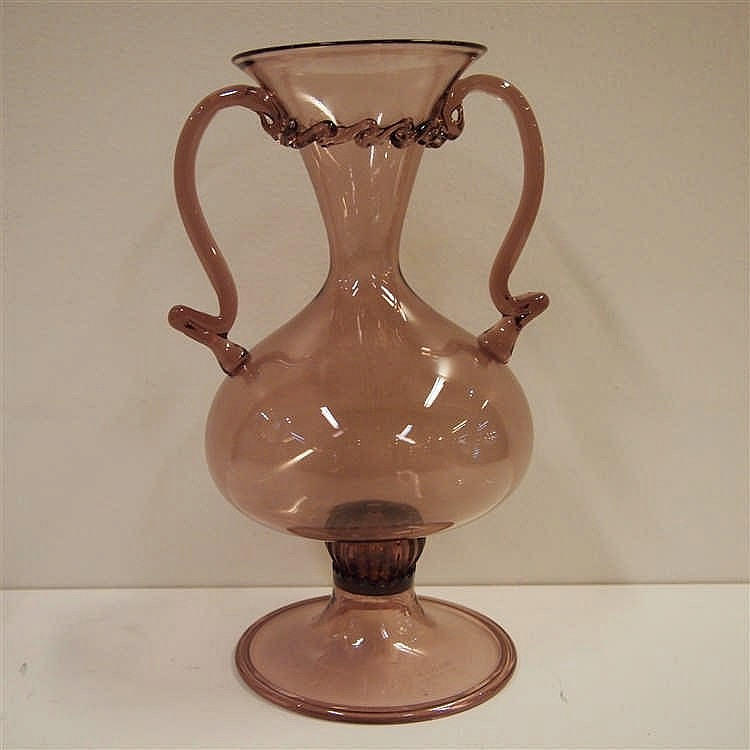 murano venini vase vers 1920 verre souffl bouche avec. Black Bedroom Furniture Sets. Home Design Ideas